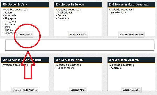 Melalui Situs fastssh.com Untuk Membuat Akun SSH Gratis