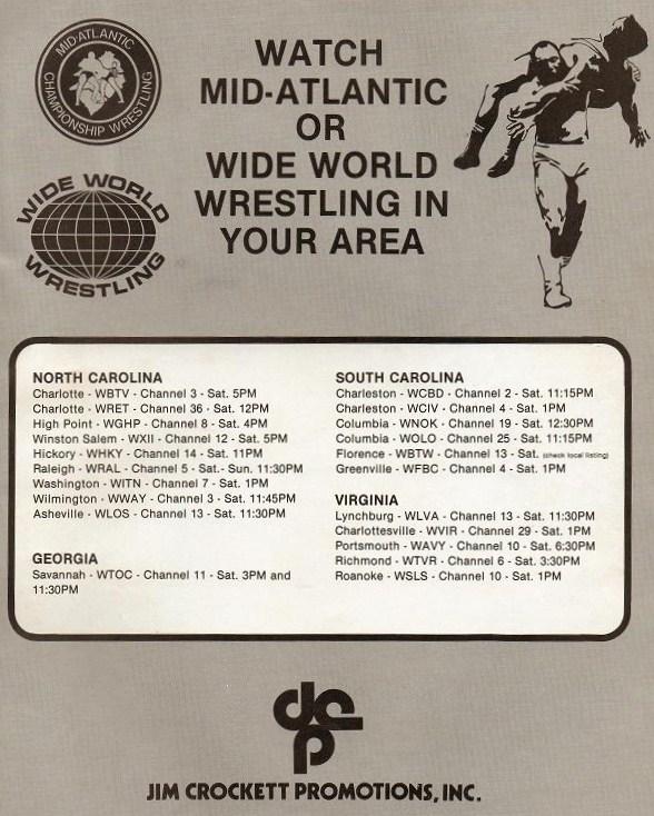 Vintage TV & Wrestling Nostalgia: 1977 Mid - Atlantic, Wide