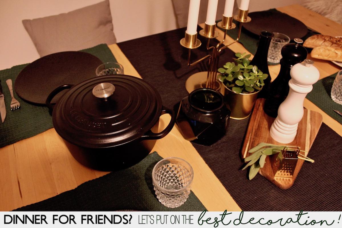 Food Dinner Le Creuset Tischdekoration Deko Scandi Rezept Langsam Garen www.theblondelion.com