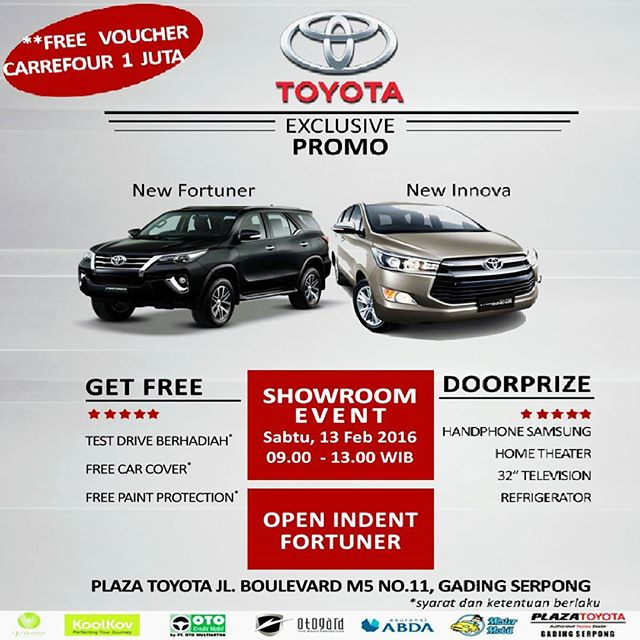 Toyota Event: Showroom Event PLAZA TOYOTA Gading Serpong