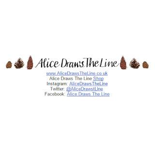 Alice Draws The Line signature