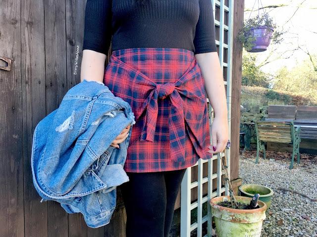 Tartan Tie Skirt