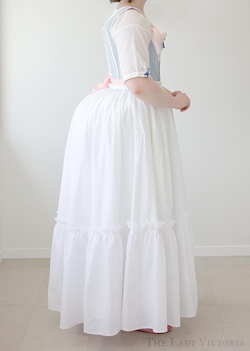 lawn petticoat side veiw