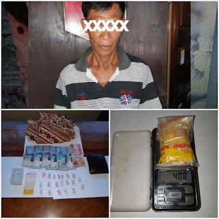Polsek Sanga Desa Gagalkan Peredaran 20 Paket Shabu, Dari Tangan Amir Hamzah