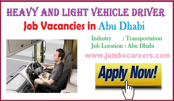 Available drivers jobs in Abu Dhabi, Recent Gulf jobs with salary,