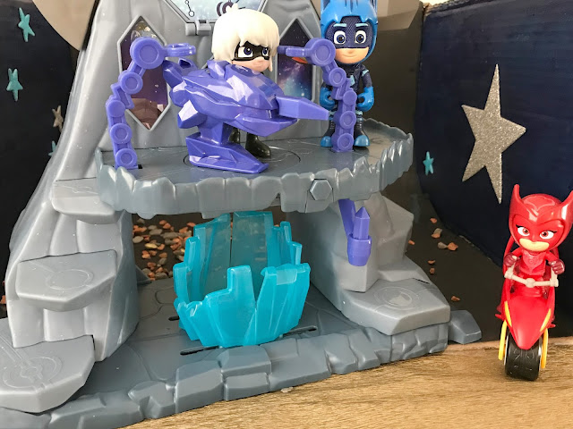 PJ mask toys and space playset