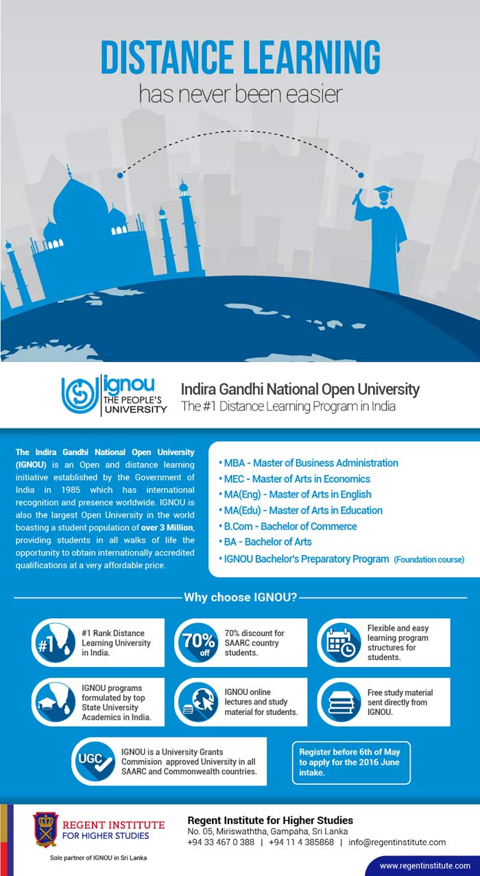 With the vision to be the Premier Higher Education institute in areas of Management, Information Technology and Vocational Studies, Regent Institute provides students the opportunity to engage in globally accredited study programs from around the World .Browse through our website to find an education program you desire.