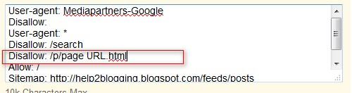 No Index or Block Specific Post url in blogger blog