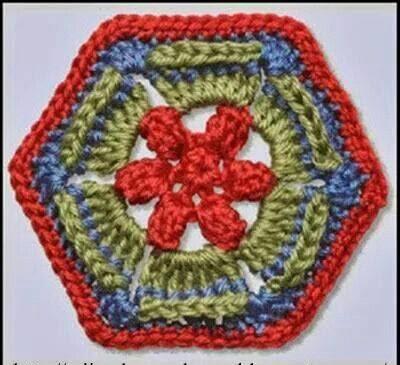 Hexágono a Crochet