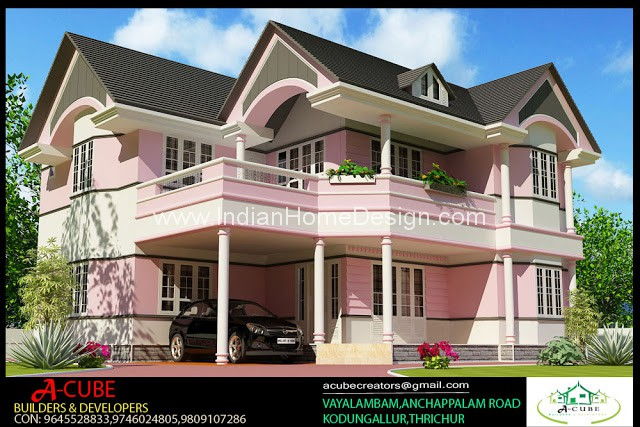 2600 sqft 4 bedroom kerala style minimalist house 3d for Minimalist house design kerala