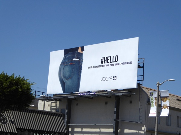 Joes Jeans Hello charged phone billboard