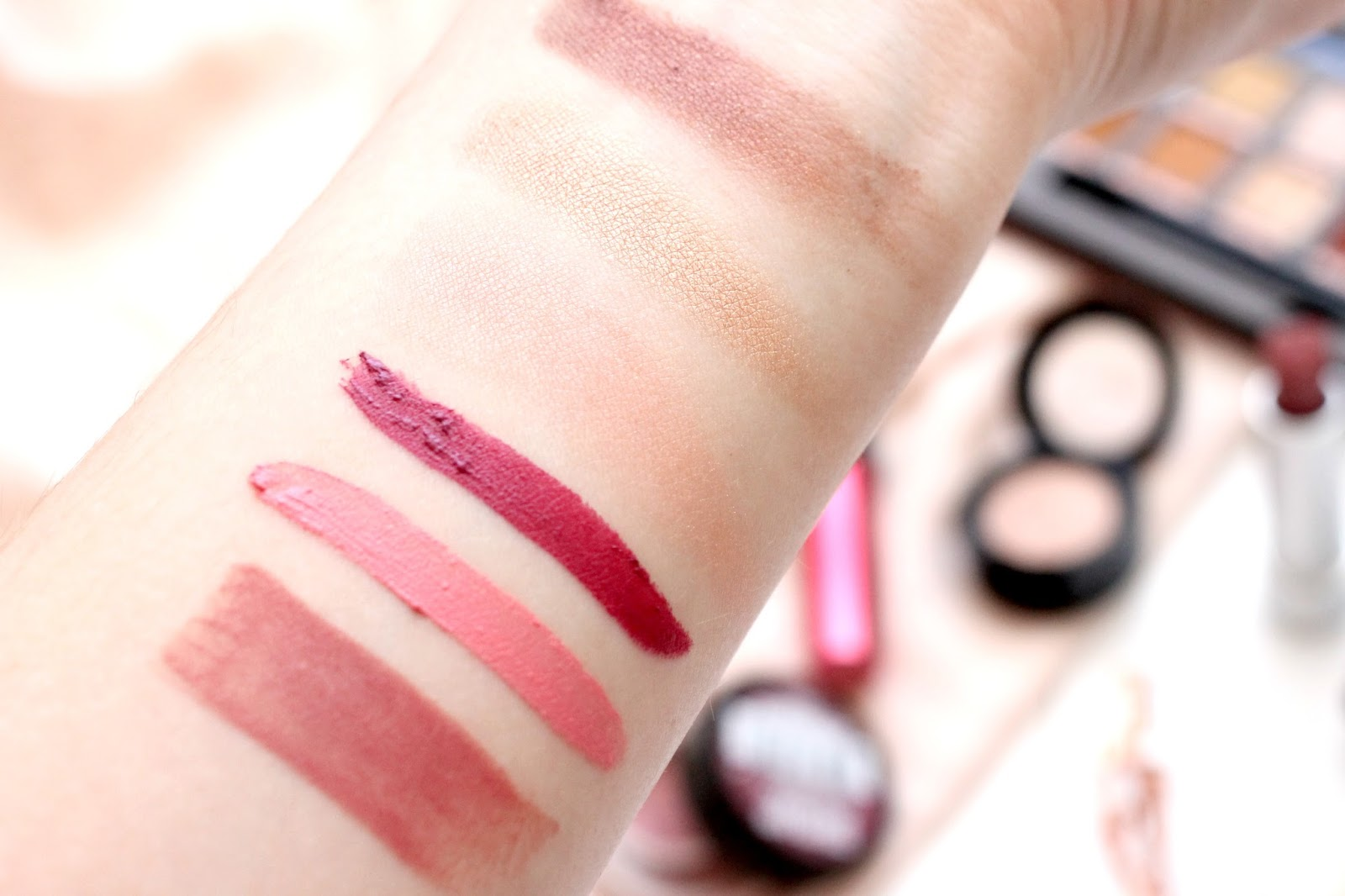 Valentines Day Makeup Menu Swatches