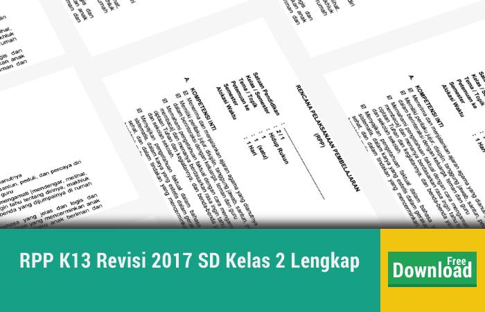 RPP K13 Revisi 2017 SD Kelas 2 Lengkap