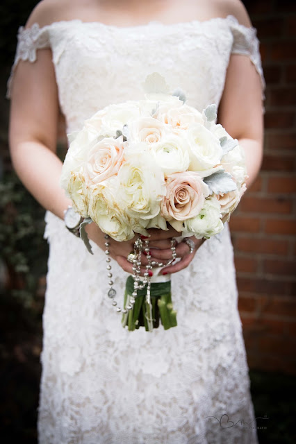 bridal bouquet at Grosse Point Academy