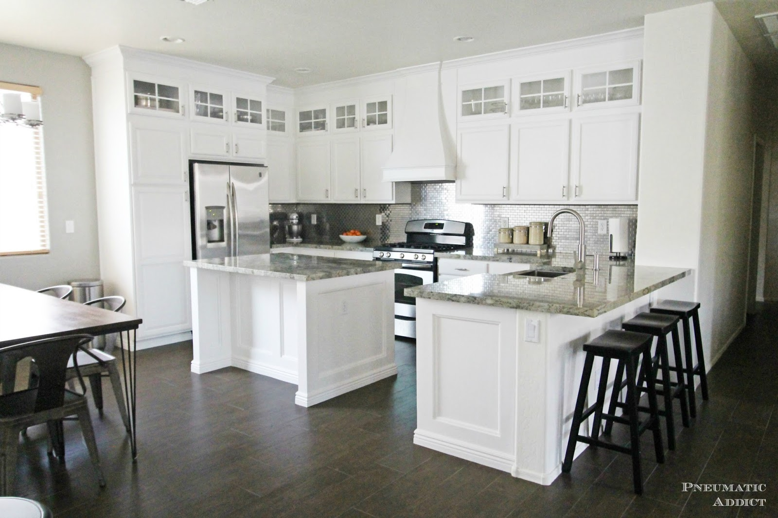 creative inspiration do it yourself kitchen remodel. Stacked Cabinet Kitchen Makeover  Gorgeous white kitchen with DIY stacked upper cabinets Pneumatic Addict