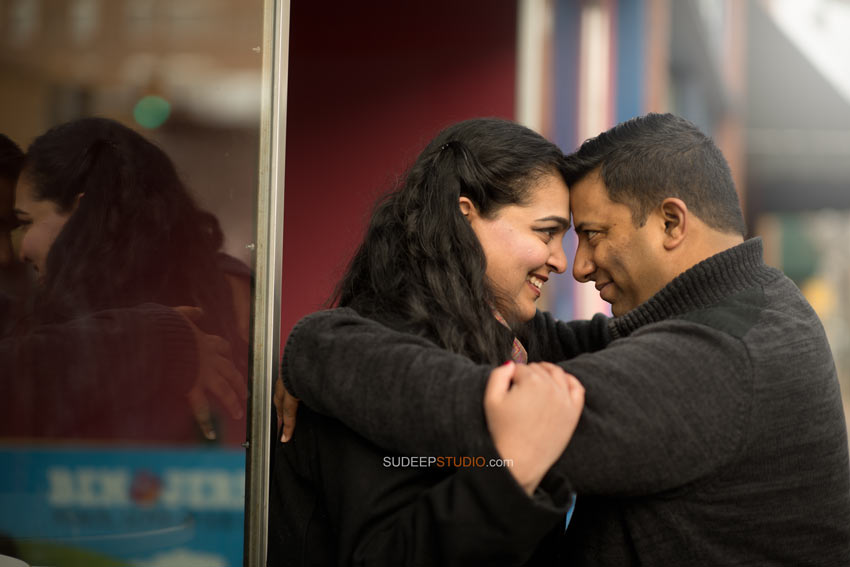 Indian Wedding Engagement Photography Session Downtown Ann Arbor - Sudeep Studio.com Ann Arbor Photographer