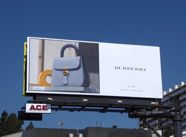 Burberry DK88 handbag billboard