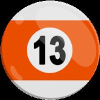 thirteen of strips pool ball