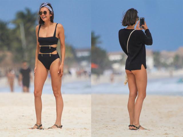 Nina Dobrev en bikini (19/01/18)