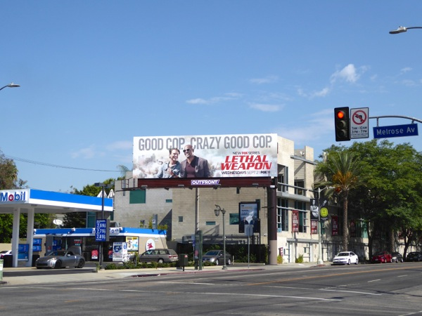 Lethal Weapon TV billboard