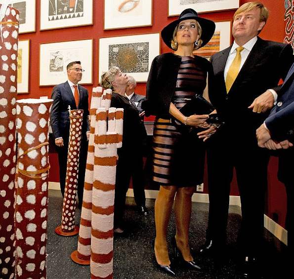 King Willem-Alexander and Queen Maxima will visit the exhibition in preparation for the state visit to Australia and New Zealand Queen Maxima wore NATAN Dress and Jacket