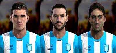 Faces: Rodrigo De Paul, Lisandro Lopez, Diego Milito, Pes 2013