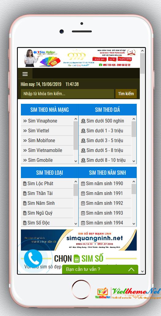 VSim Online - Giao diện bán sim số đẹp dành cho Blogspot, MIỄN PHÍ HOSTING