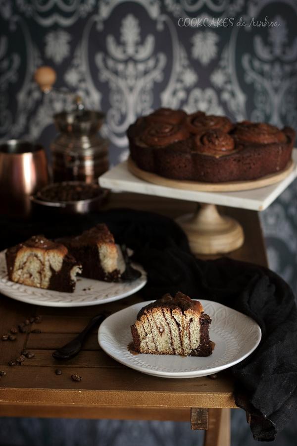 Bizcocho de Chocolate y Cinnamon Rolls. Cookcakes de Ainhoa