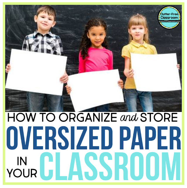 Are you wondering how to organize and store oversized paper like construction paper in your classroom? There are simple storage solutions that can solve all of these problems.