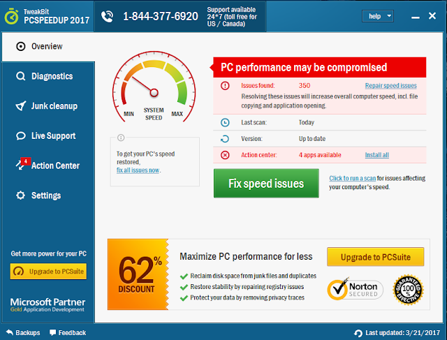 TweakBit PCSpeedUp License Key