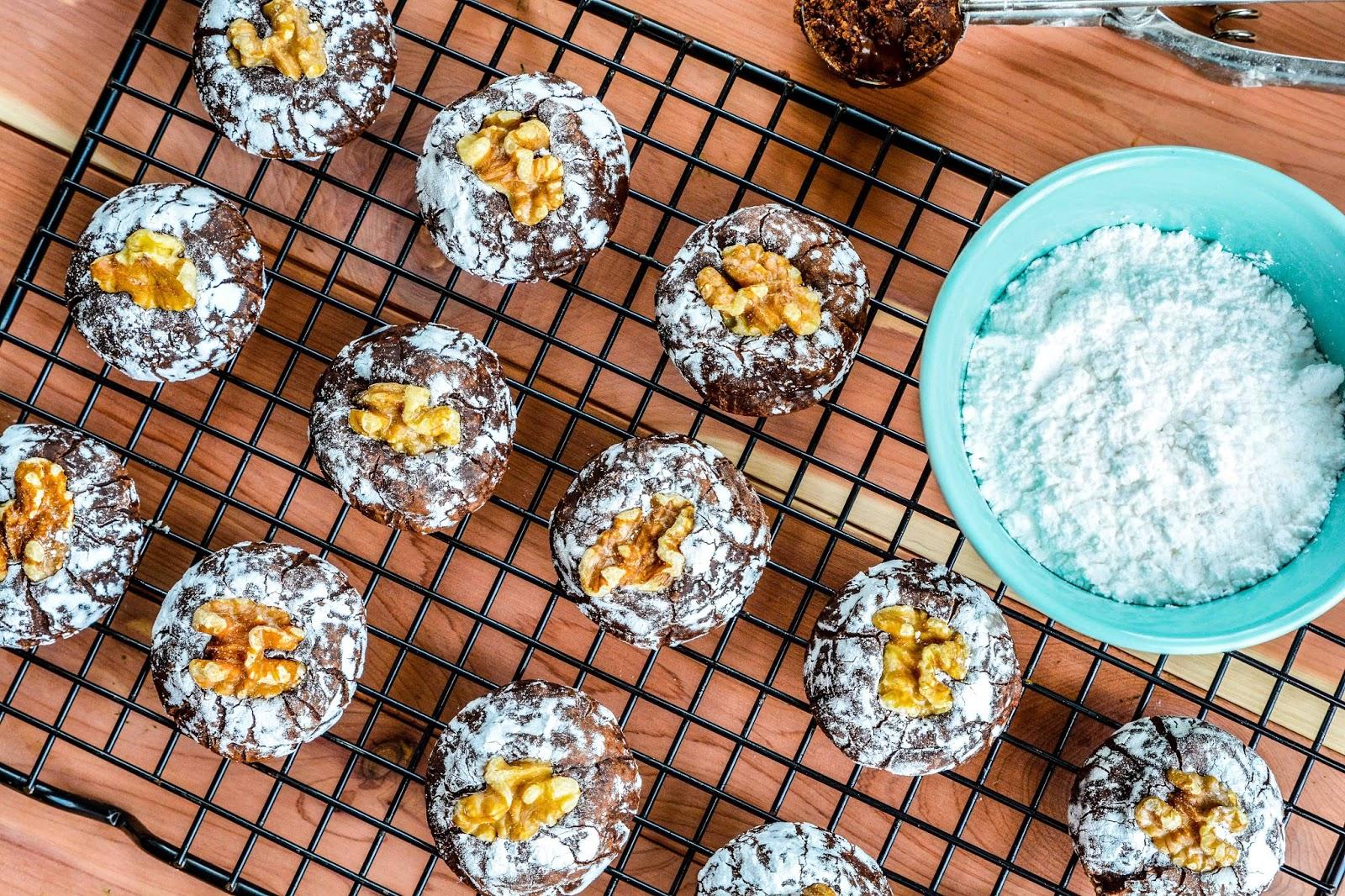 Double Chocolate Walnut Dream Cookies