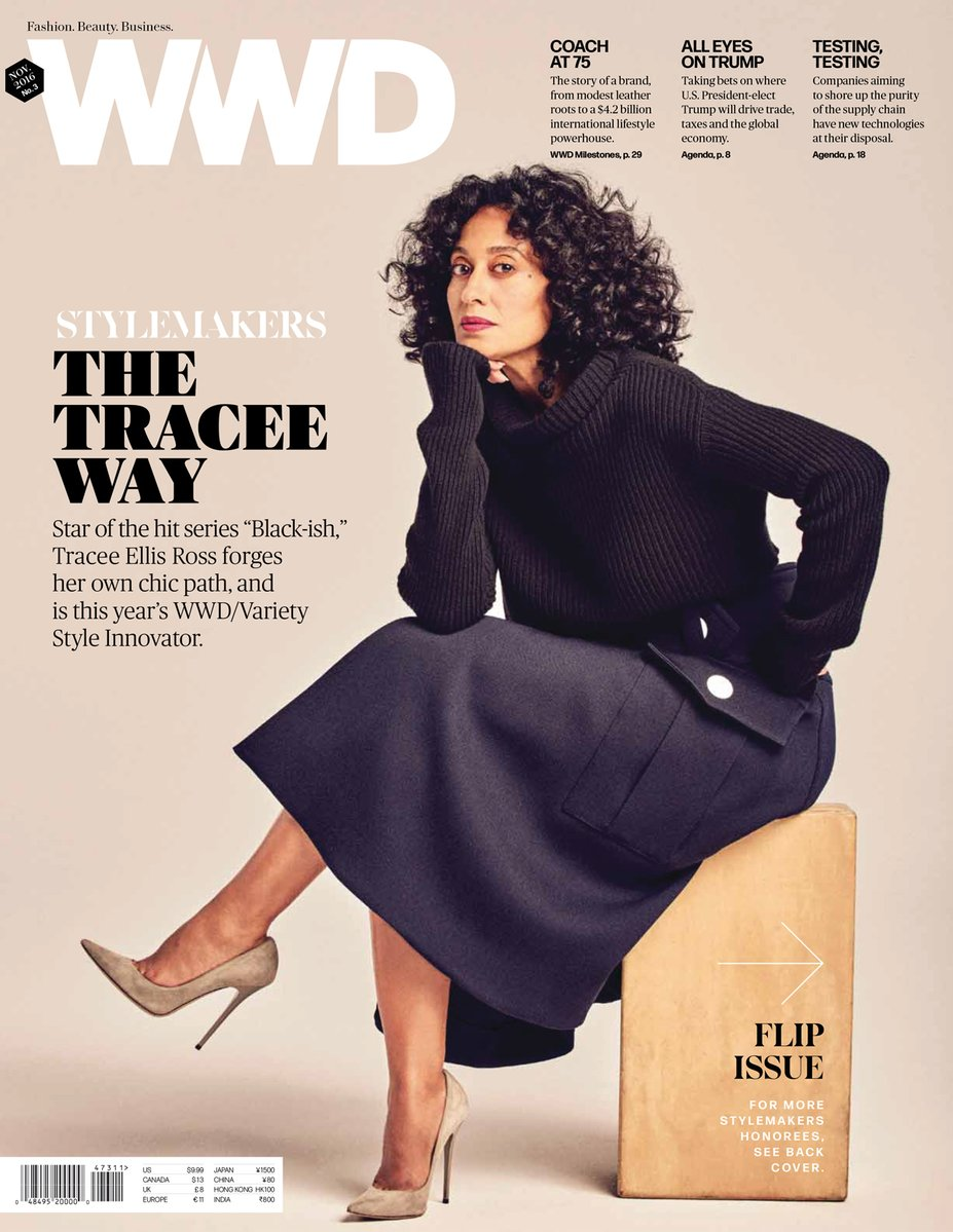 Actress Tracee Ellis Ross covers WWD & The Edit by NET-A-PORTER