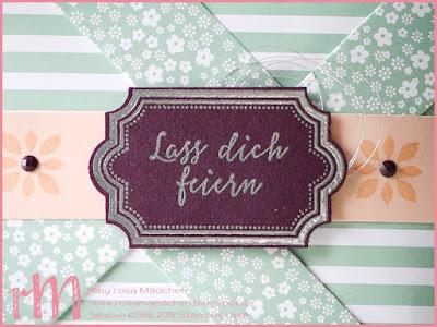 Stampin' Up! rosa Mädchen Kulmbach: Pinwheel Card mit Liebevolle Details und Labels to Love