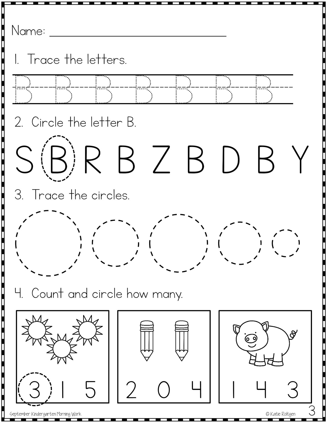 Morning Work in Kindergarten - Resources by Mrs. Roltgen