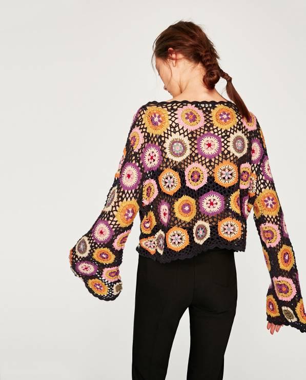 haftowany sweter ZARA
