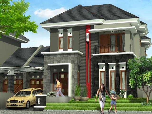 Desain Rumah Minimalis Type 90 Dua Lantai