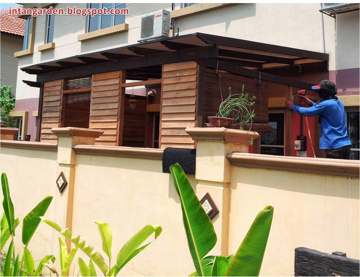 Gambar Dari Pandangan Bahagian Belakang Rumah View Ini Juga Merupakan Muka Kepada Binaan Dapur Kami Beri Sentuhan Ukiran Yang Agak Basic Agar