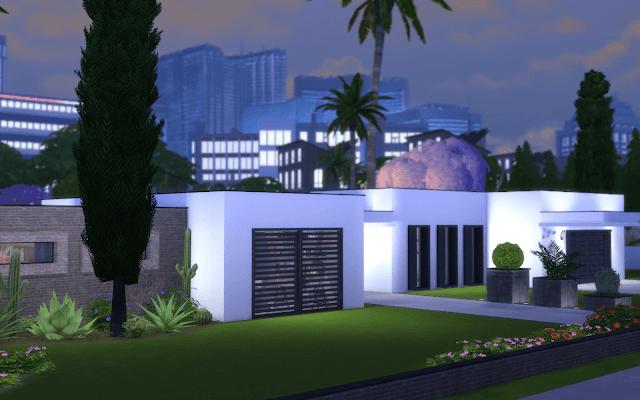 grande villa Sims 4