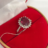 Jual Cincin Berlian Permata Ruby Model Lady Day