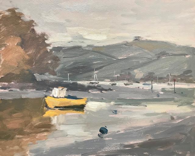 #269 'On the River Dart, Devon' 8×10″