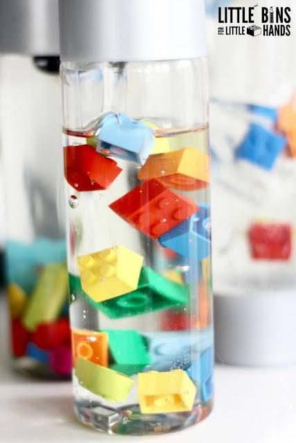lego sensory bottles