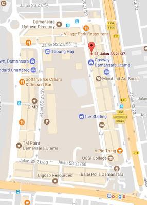 location map syarikat chong servis tayar