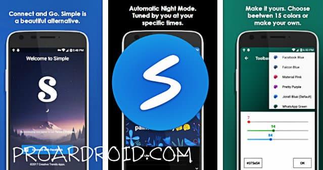 تطبيق Simple Social Pro بديل خفيف لتطبيق فايسبوك للأندرويد logo
