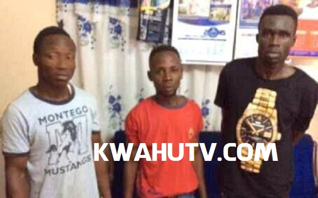 Police arrested filling station Armed Robbers