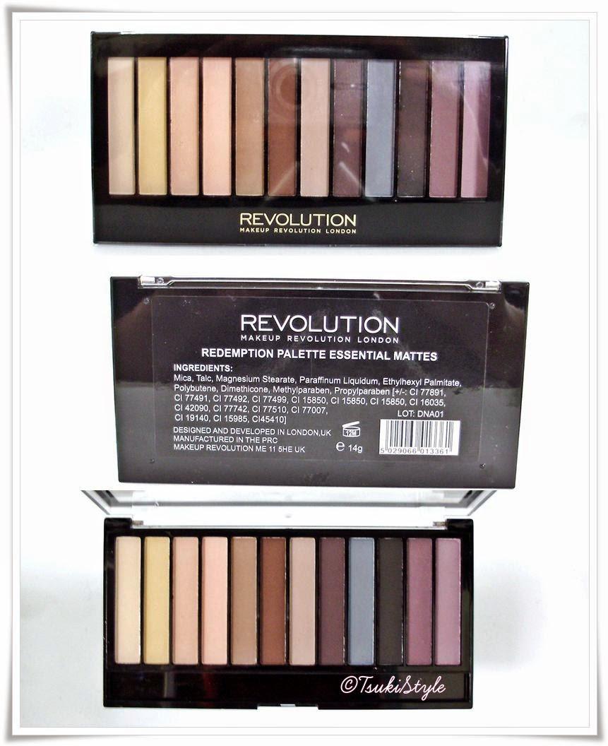 redemption palette essential mattes makeup revolution tsuki style
