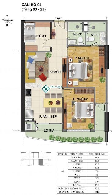 Căn hộ số 04 tòa Trường An- Tràng An Complex