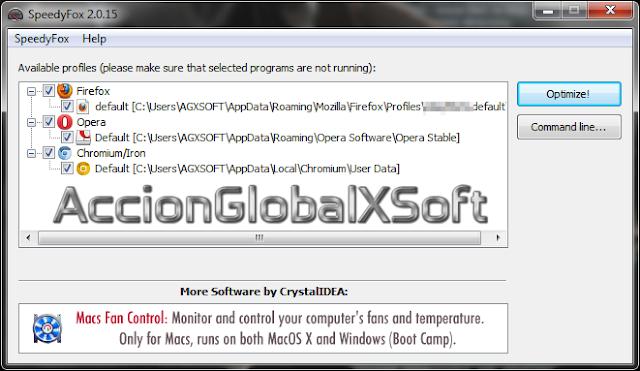SpeedyFox 2.0.28 | Nueva versión de este práctico optimizador para varios navegadores
