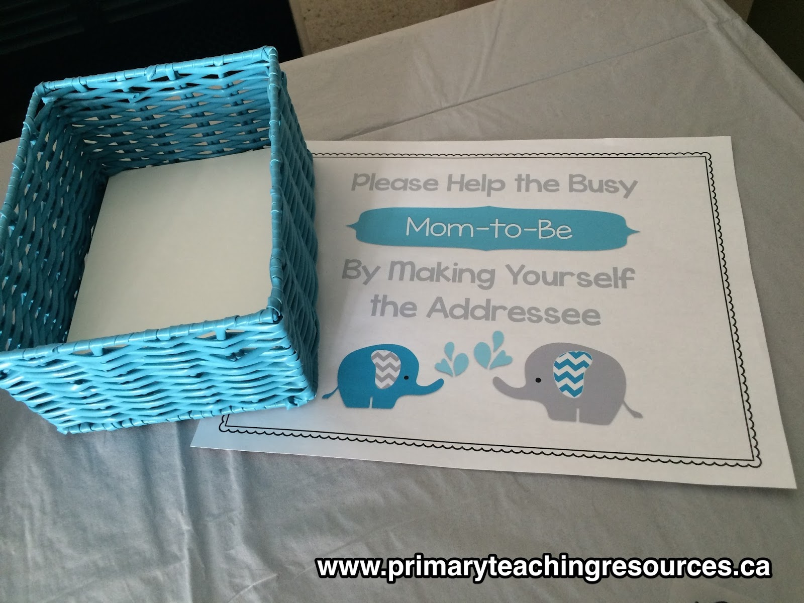 mom to be can get her thank you cards in the mail before baby arrives