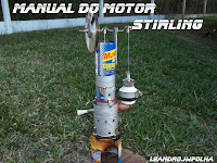 Manual do motor Stirling, gama, caseiro 700 rpm