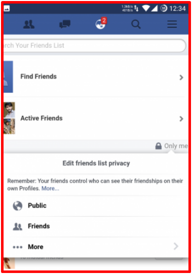 Hide Facebook Friends List
